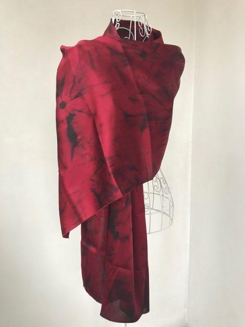Red Silk scarf Argentine tango