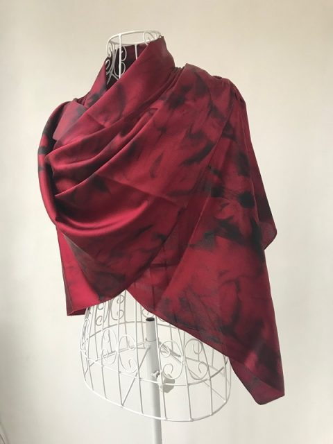 Silk scarf Argentine tango