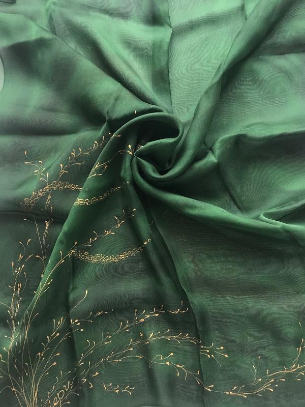 Копринен шал Зелени треви