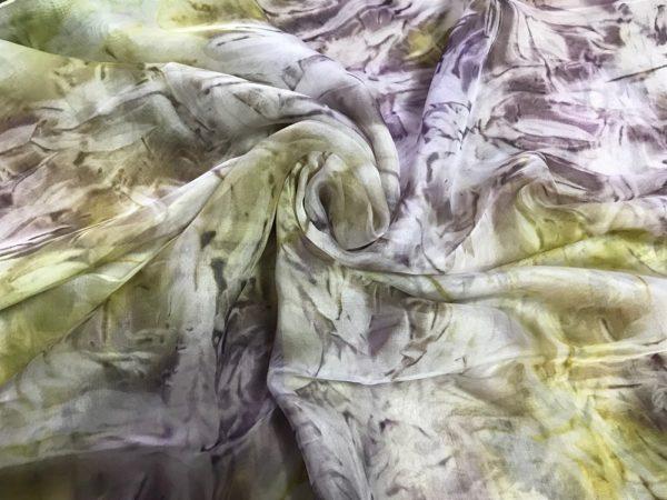 Копринен шал Лавандулово поле