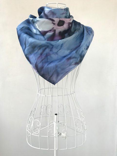 Копринен шал Морско цвете вариант 2