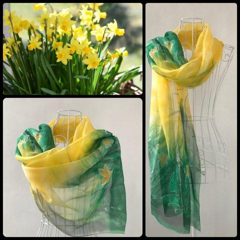 Копринен шал Нарциси