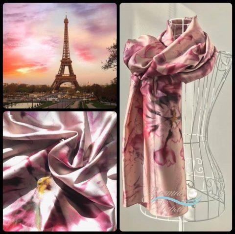 Копринен шал Париж