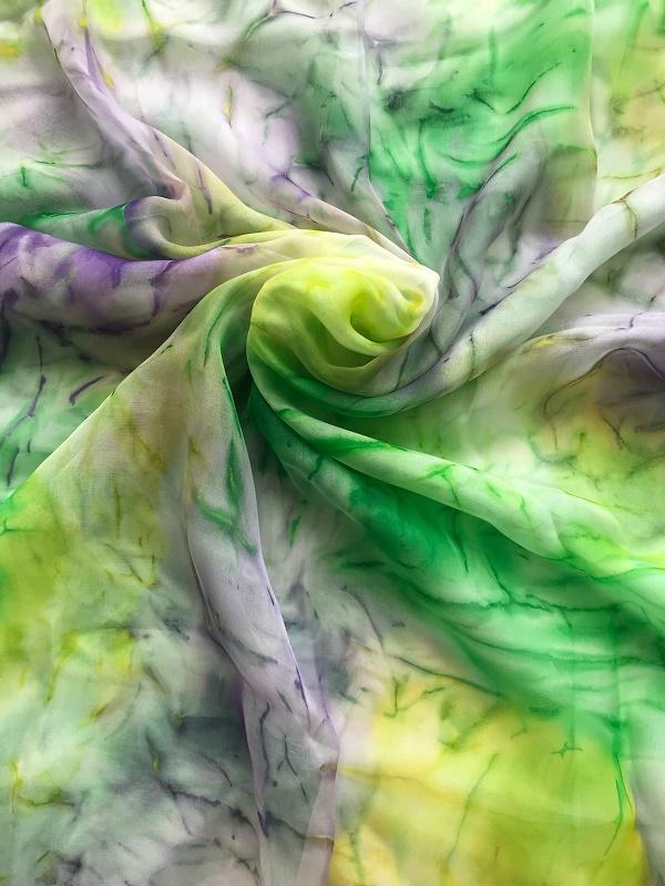 Копринен шал Ранна пролет (2)