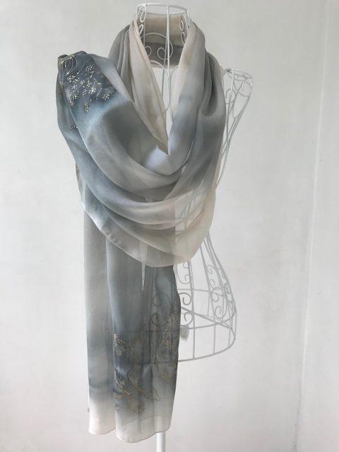 Копринен шал Цвят от бъз